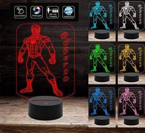 Lampada a LED Spider-Man 7 colori