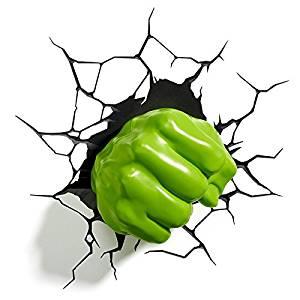 Pugno di Hulk lampada LED 3D